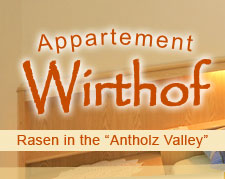 Appartement Wirthof - Rasen in Antholz - Rasun in Valle d'Anterselva - Südtirol - Alto Adige - Italien - Italy